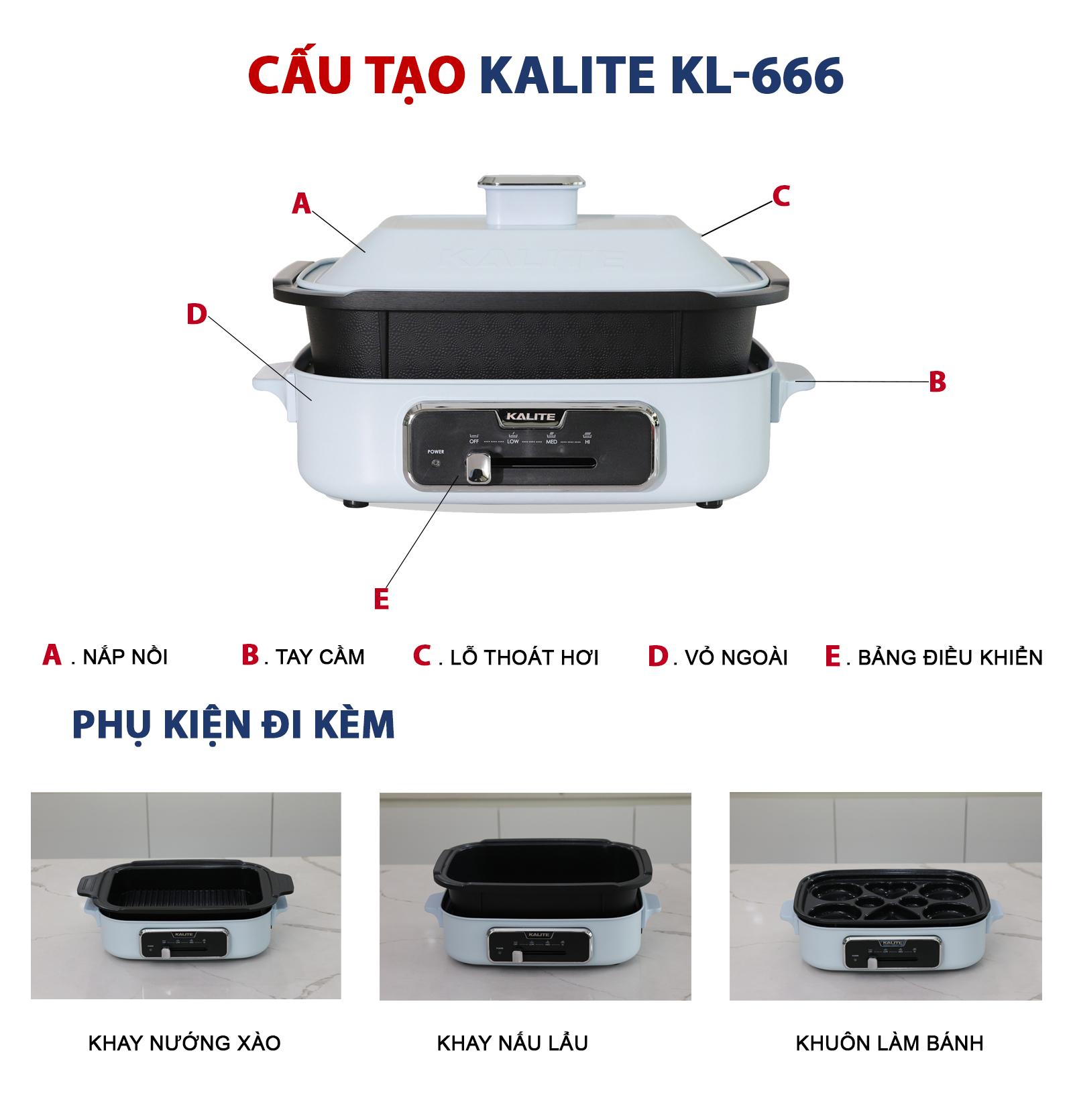 Nồi lẩu nướng đa năng Kalite KL-666